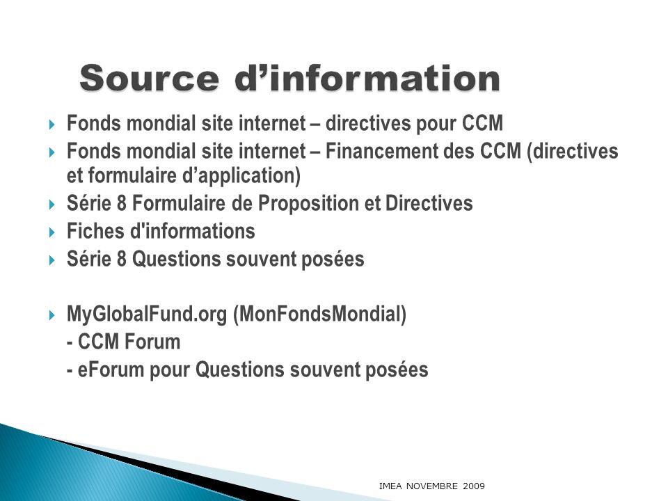 Fonds mondial site internet – directives pour CCM Fonds mondial site internet – Financement des CCM (directives et formulaire dapplication) Série 8 Fo