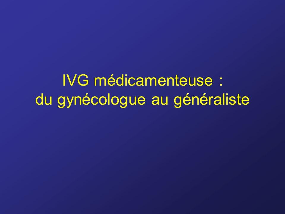 IVG médicamenteuse : du gynécologue au généraliste