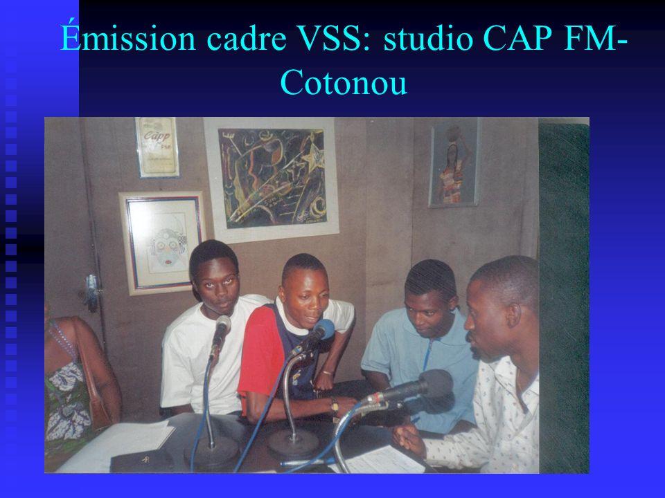 Émission cadre VSS: studio CAP FM- Cotonou