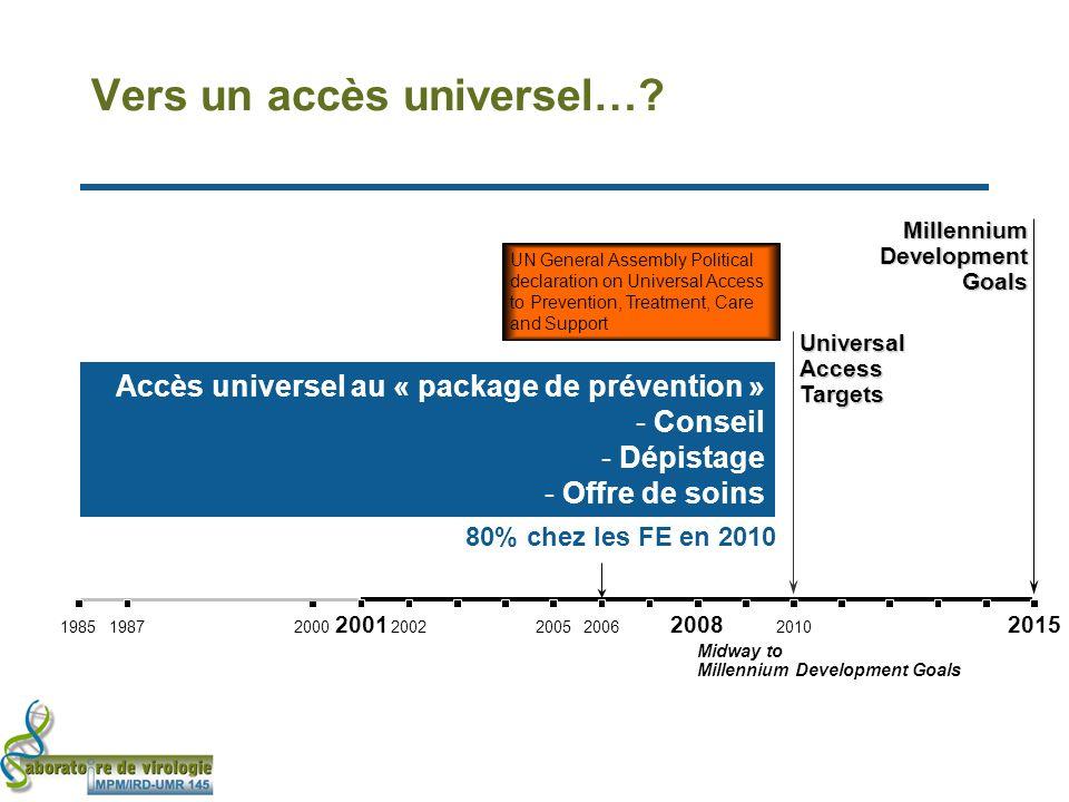Vers un accès universel….