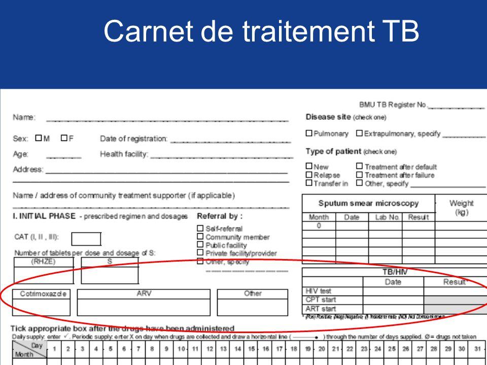 Carnet de traitement TB