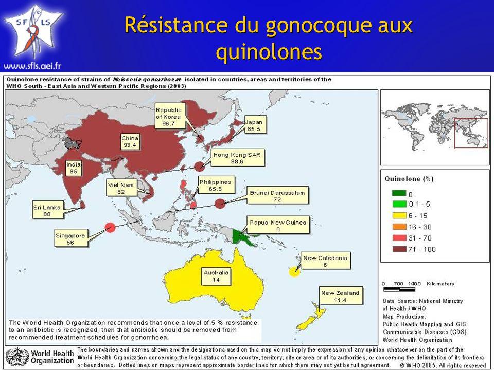 Résistance du gonocoque aux quinolones
