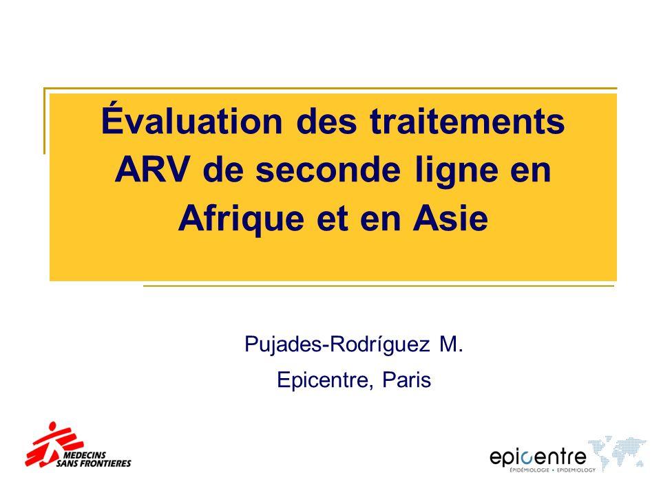 Évaluation des traitements ARV de seconde ligne en Afrique et en Asie Pujades-Rodríguez M.