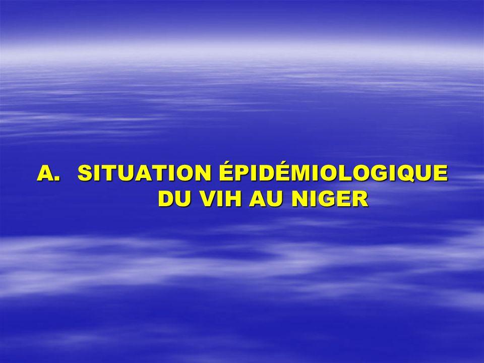 A.SITUATION ÉPIDÉMIOLOGIQUE DU VIH AU NIGER