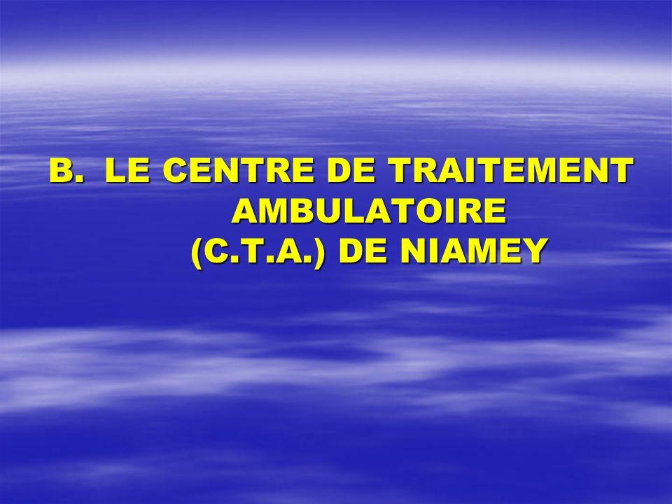 B.LE CENTRE DE TRAITEMENT AMBULATOIRE (C.T.A.) DE NIAMEY