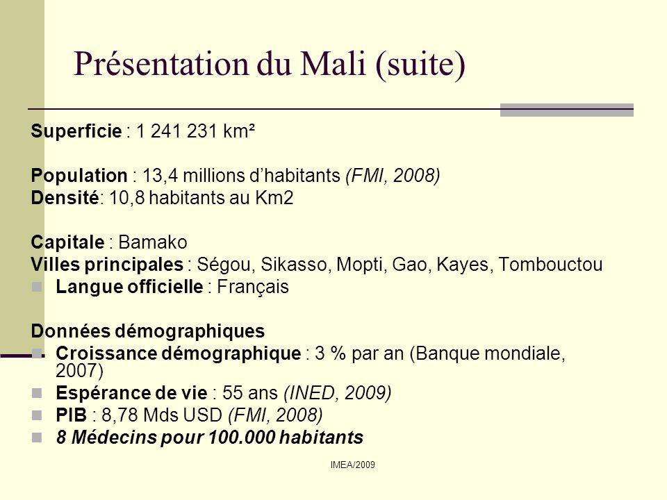 IMEA/2009 TRAITEMENT ARV Disponible et gratuit Générique et spécialité Traitement des IO gratuits PTME