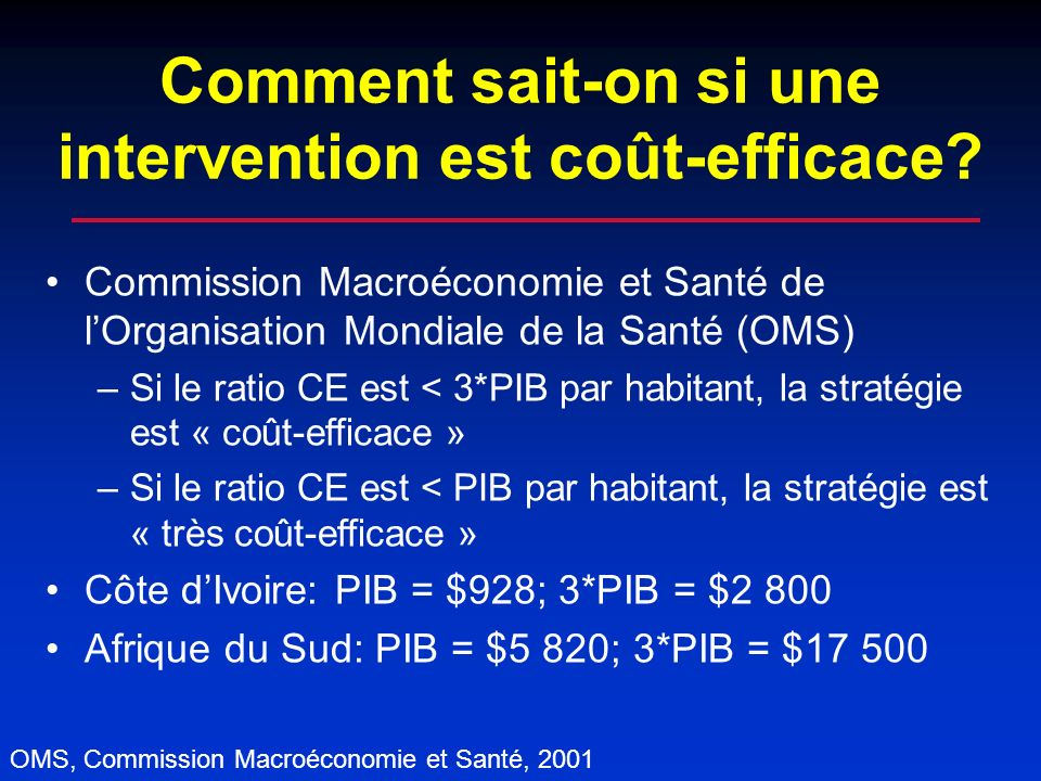 Comment sait-on si une intervention est coût-efficace.