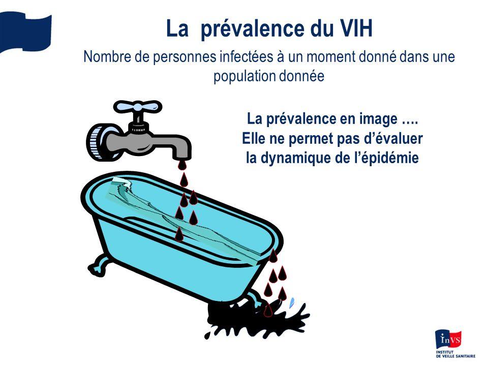 La prévalence en image …. Elle ne permet pas dévaluer la dynamique de lépidémie La prévalence du VIH Nombre de personnes infectées à un moment donné d