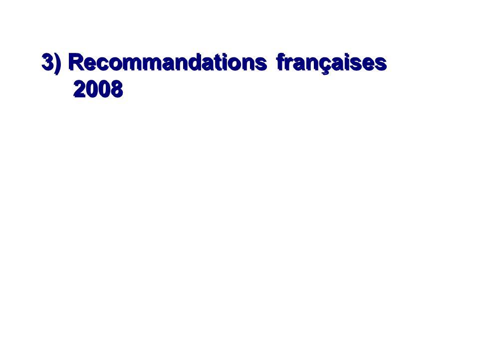 3) Recommandations françaises 2008