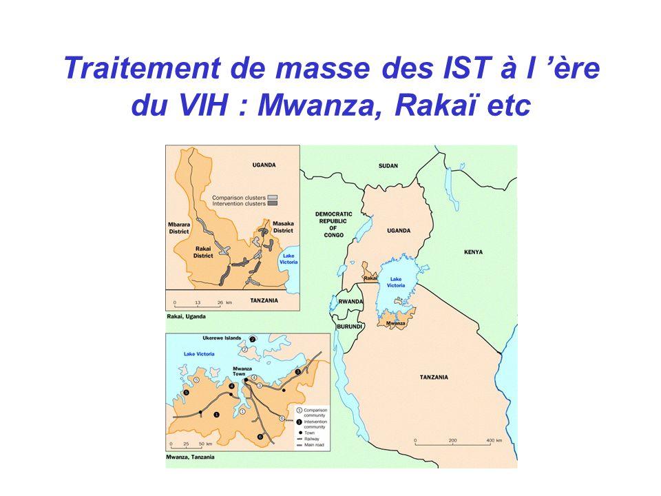 Traitement de masse des IST à l ère du VIH : Mwanza, Rakaï etc