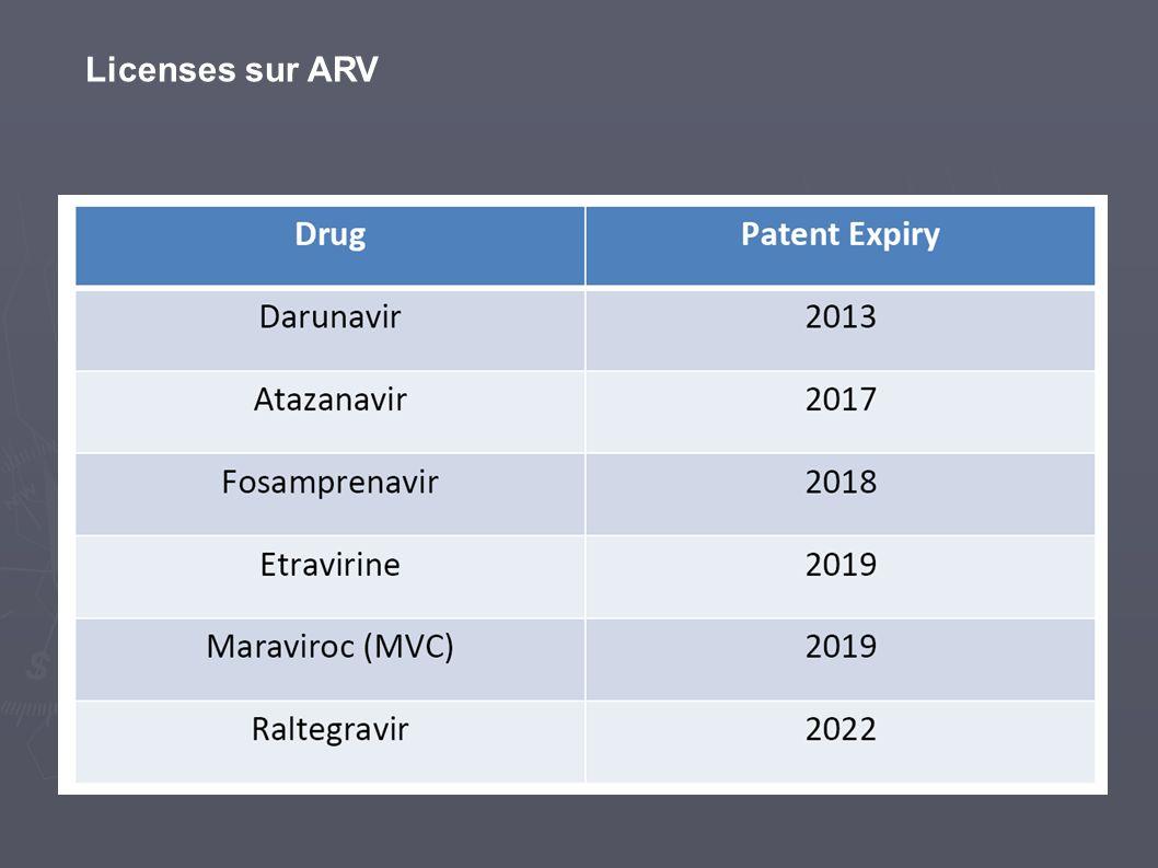 Licenses sur ARV