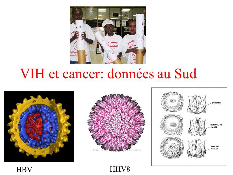 VIH et cancer: données au Sud HBV HHV8