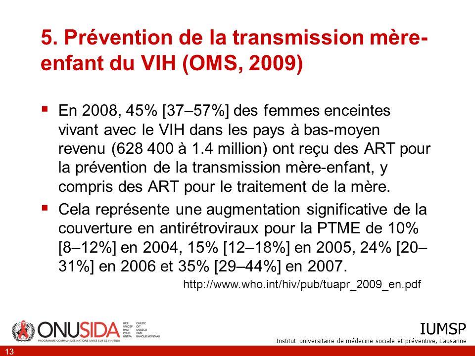 IUMSP Institut universitaire de médecine sociale et préventive, Lausanne 13 5.