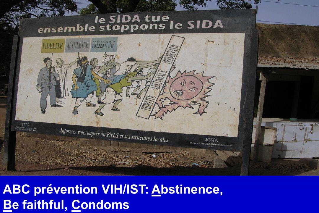 ABC prévention VIH/IST: Abstinence, Be faithful, Condoms