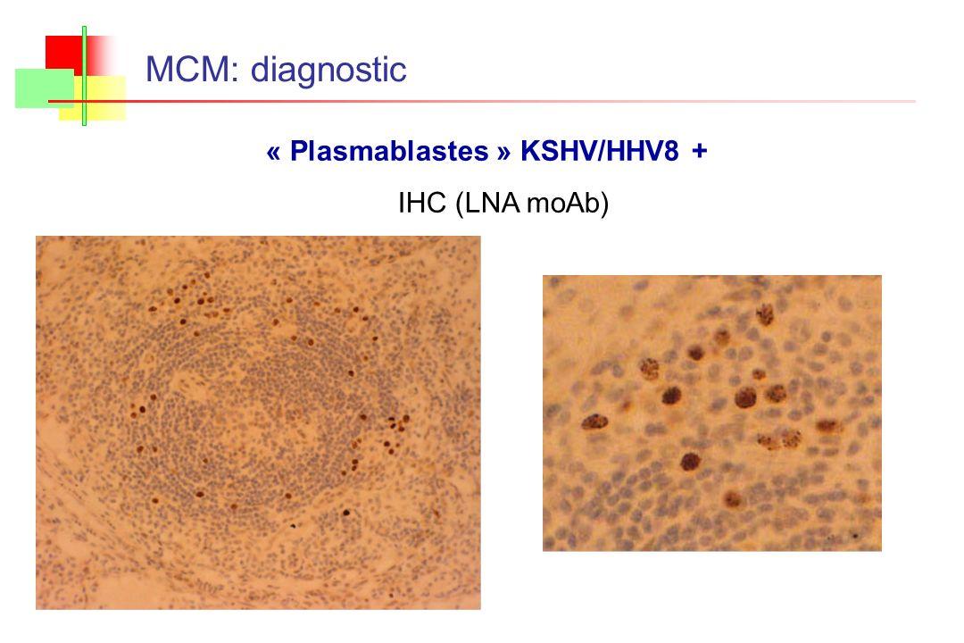 MCM: diagnostic « Plasmablastes » KSHV/HHV8 + IHC (LNA moAb)