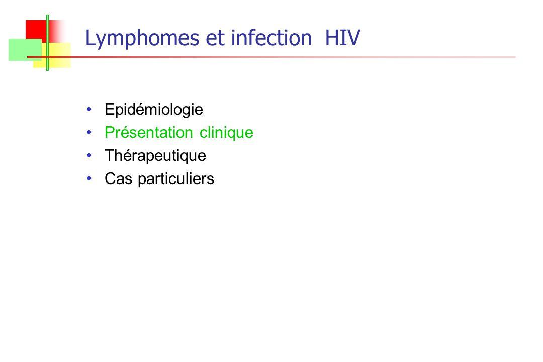Lymphomes et infection HIV Epidémiologie Présentation clinique Thérapeutique Cas particuliers