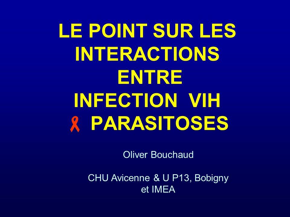 conclusion peu de données impact surtout avec les protozooses paludisme : impact réciproque mais de découverte tardive leishmaniose maladie de Chagas protozooses intestinales