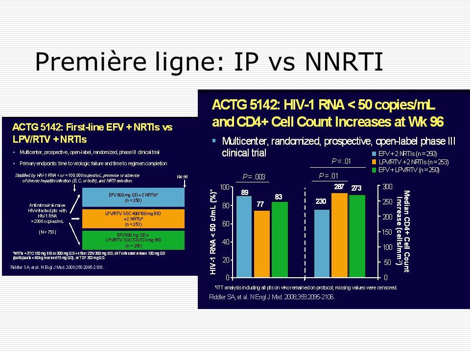 Première ligne: IP vs NNRTI