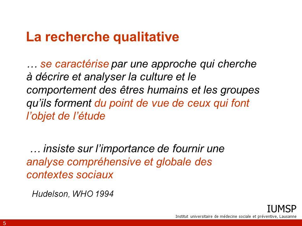 IUMSP Institut universitaire de médecine sociale et préventive, Lausanne 6