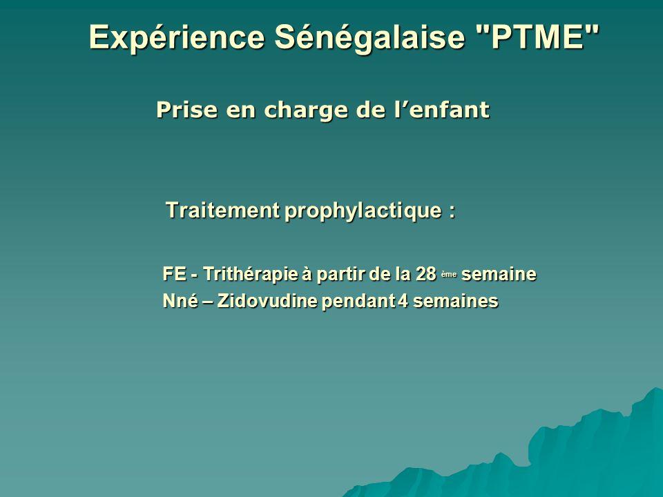 Traitement prophylactique : Prise en charge de lenfant Expérience Sénégalaise