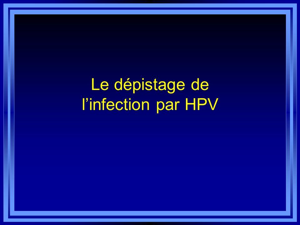 Le dépistage de linfection par HPV