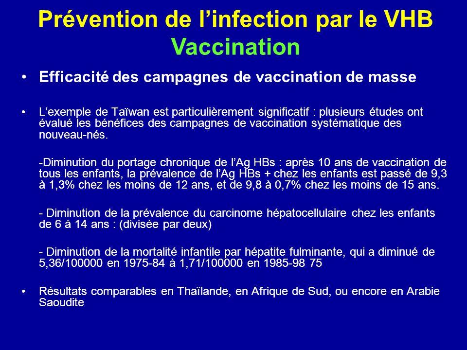 Efficacité des campagnes de vaccination de masse Lexemple de Taïwan est particulièrement significatif : plusieurs études ont évalué les bénéfices des