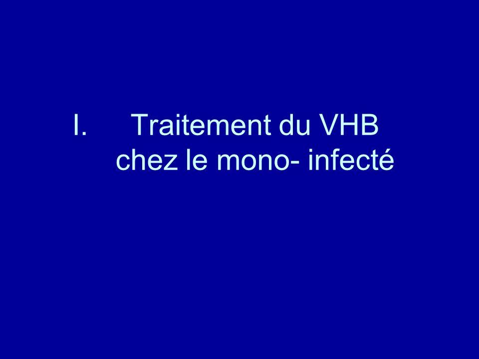 I.Traitement du VHB chez le mono- infecté