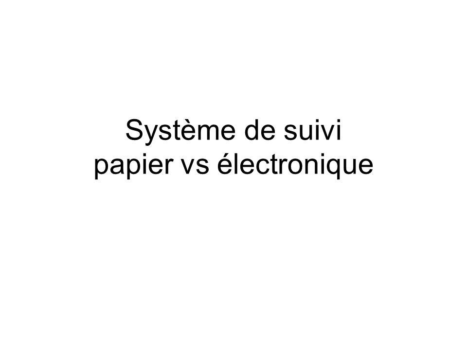 Système de suivi papier vs électronique