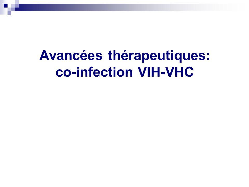 Avancées thérapeutiques: co-infection VIH-VHC