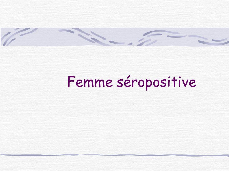 Femme séropositive