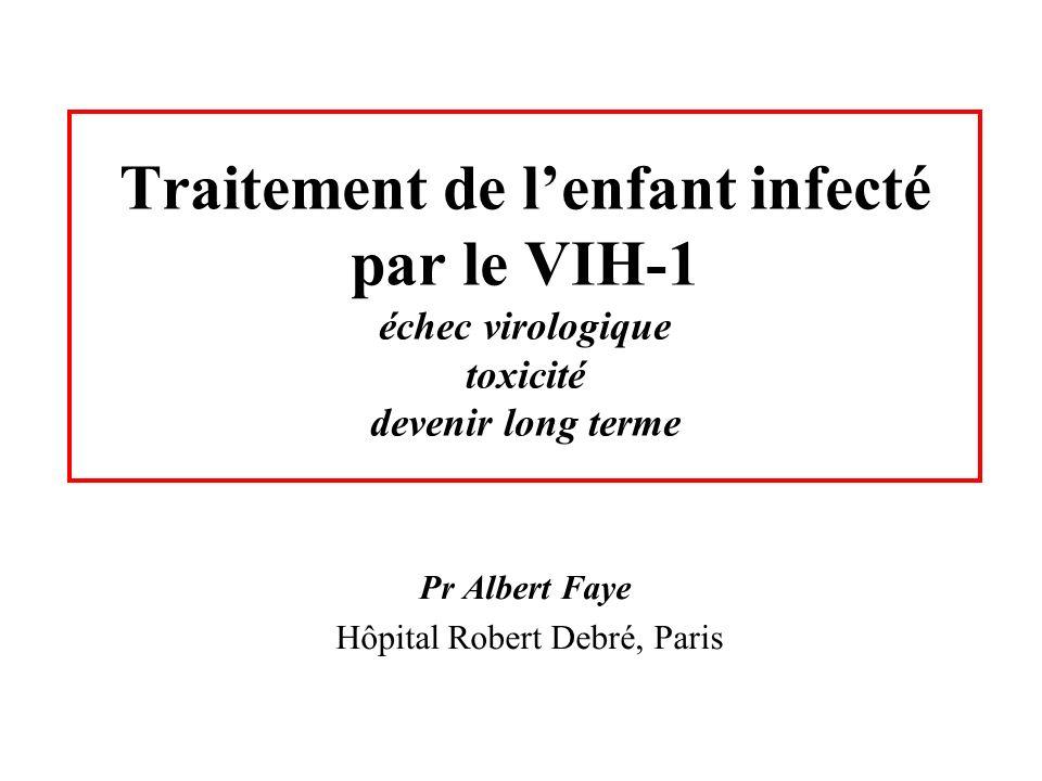 Traitement de lenfant infecté par le VIH-1 échec virologique toxicité devenir long terme Pr Albert Faye Hôpital Robert Debré, Paris
