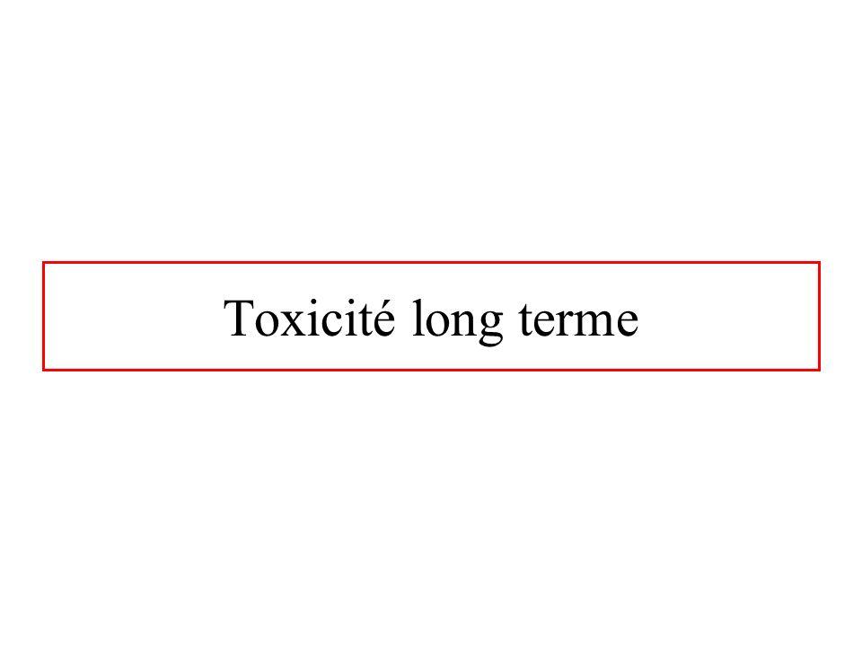 Toxicité long terme