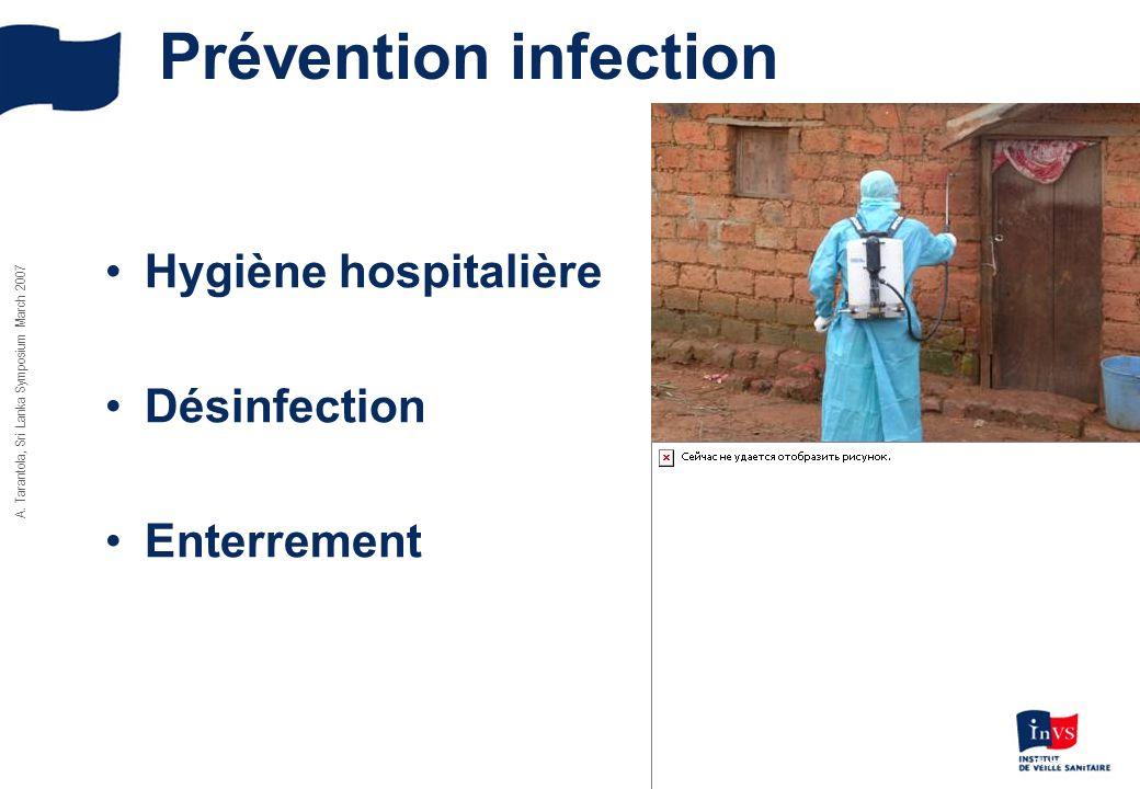 A. Tarantola, Sri Lanka Symposium March 2007 Prévention infection Hygiène hospitalière Désinfection Enterrement Photos OMS