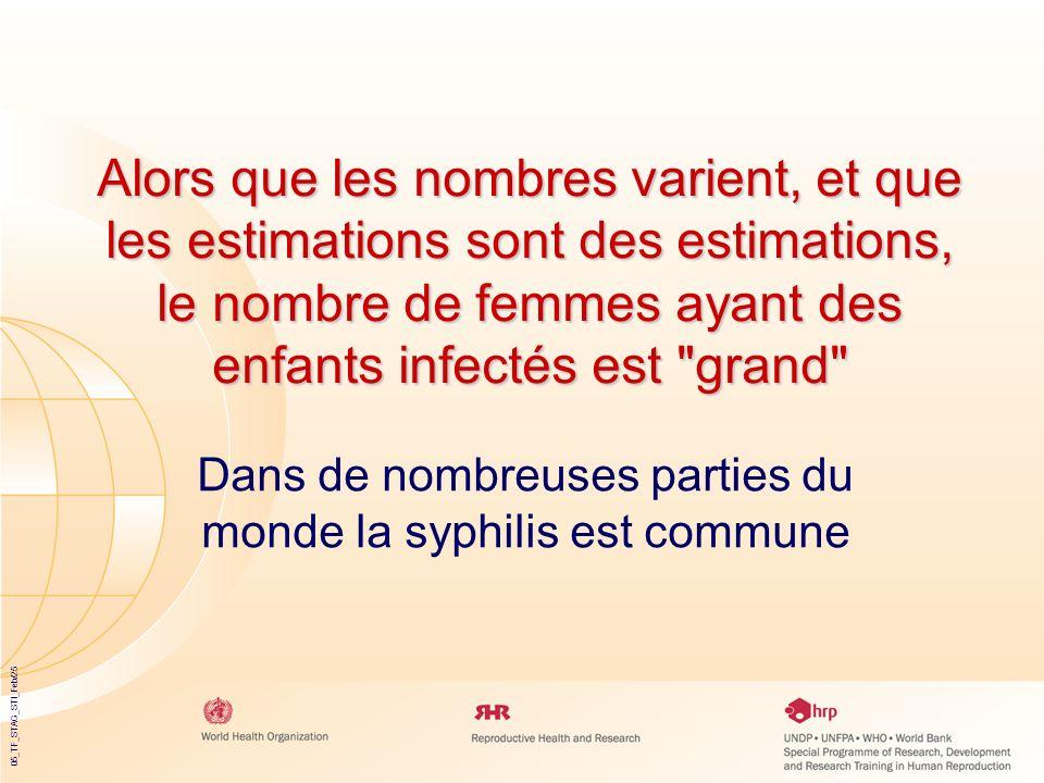 05_TF_STAG_STI_Feb/25 Alors que les nombres varient, et que les estimations sont des estimations, le nombre de femmes ayant des enfants infectés est