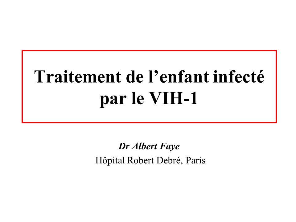 Traitement de lenfant infecté par le VIH-1 Dr Albert Faye Hôpital Robert Debré, Paris