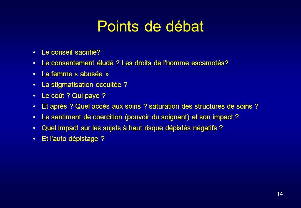 14 Points de débat Le conseil sacrifié. Le consentement éludé .