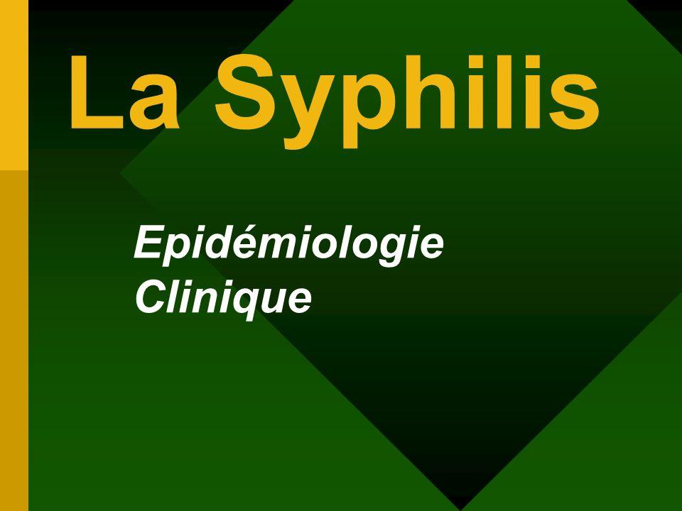 Epidémiologie Clinique La Syphilis