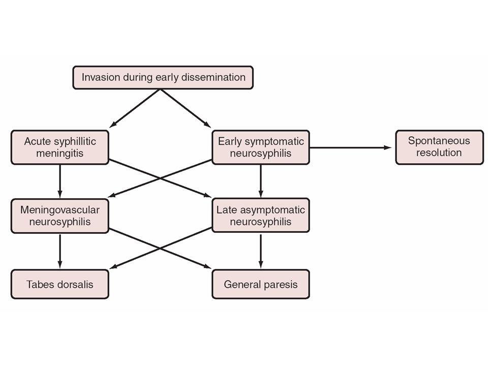 Chronology of neurosyphilis
