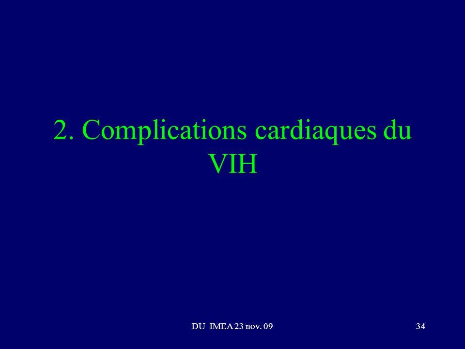 DU IMEA 23 nov. 0934 2. Complications cardiaques du VIH