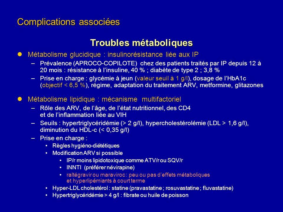 Métabolisme glucidique : insulinorésistance liée aux IP –Prévalence (APROCO-COPILOTE) chez des patients traités par IP depuis 12 à 20 mois : résistanc