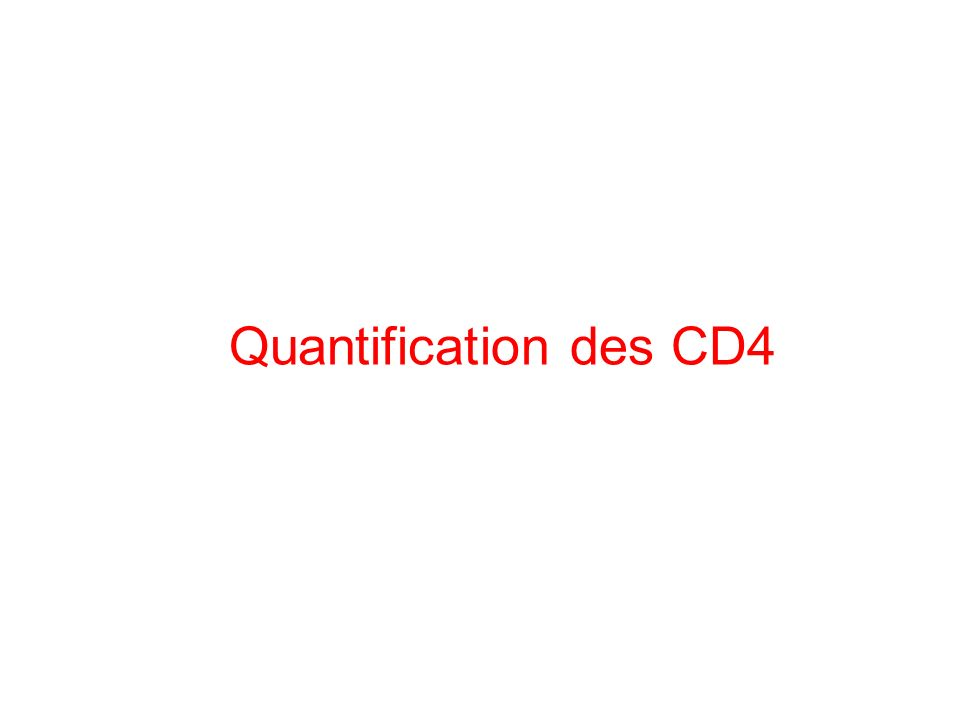 Quantification des CD4