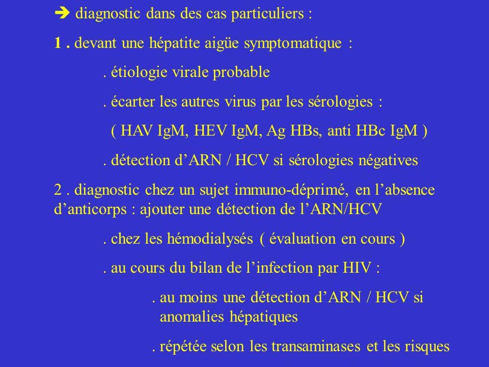 diagnostic dans des cas particuliers : 1.devant une hépatite aigüe symptomatique :.