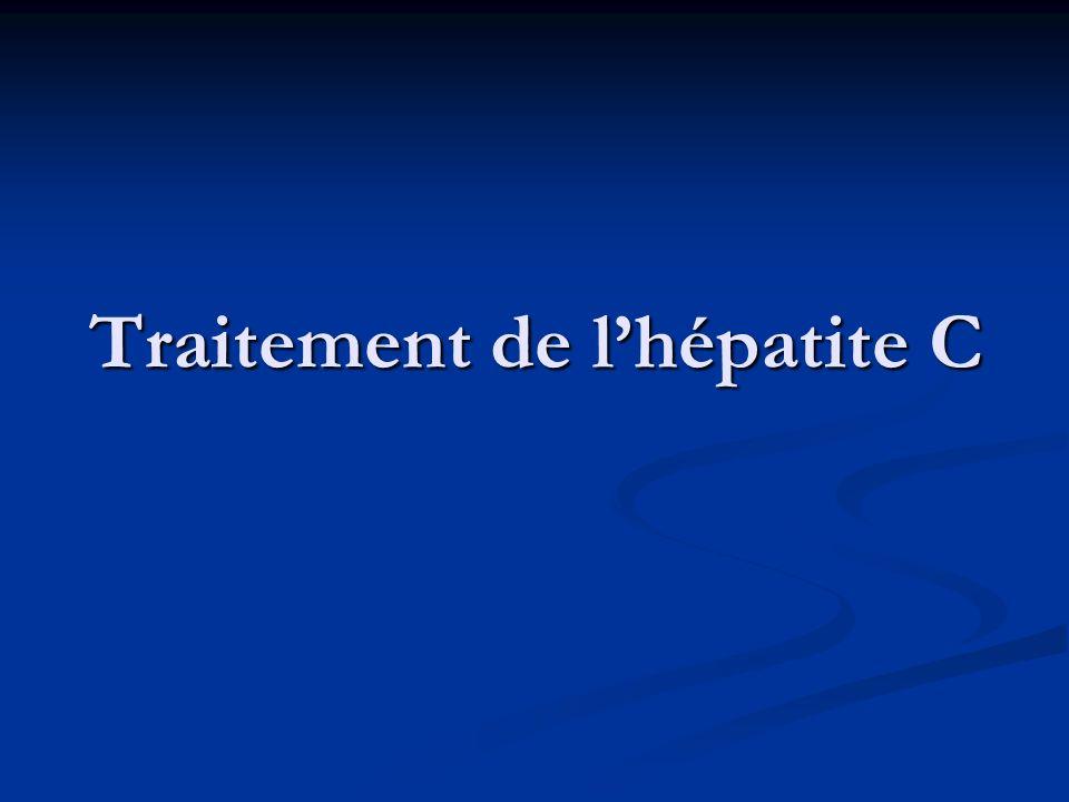 Traitement de lhépatite C