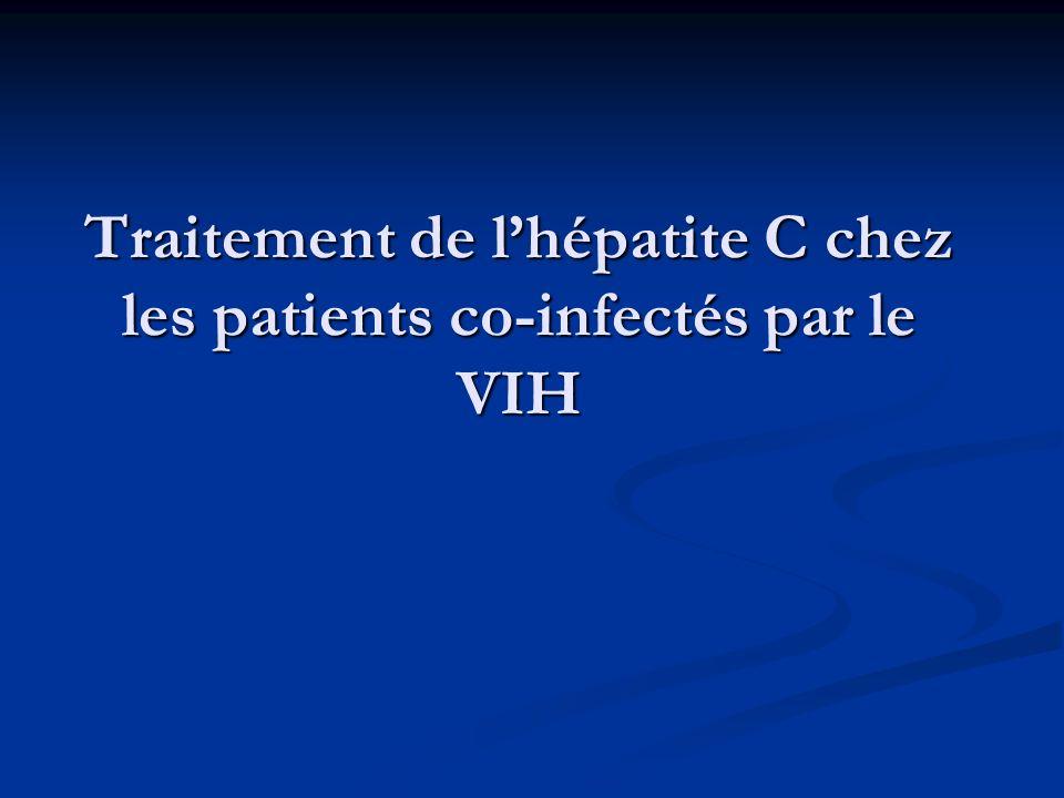 Traitement de lhépatite C chez les patients co-infectés par le VIH