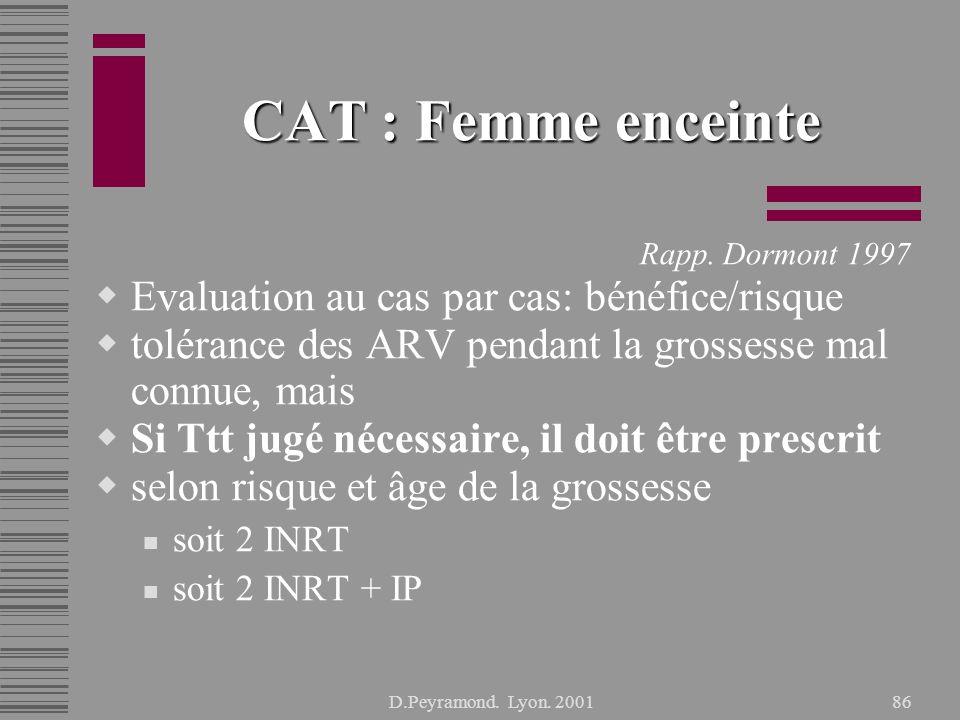 D.Peyramond.Lyon. 200186 CAT : Femme enceinte Rapp.
