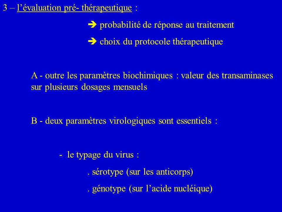 3 – lévaluation pré- thérapeutique : probabilité de réponse au traitement choix du protocole thérapeutique A - outre les paramètres biochimiques : val