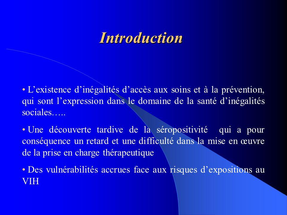 Introduction Lexistence dinégalités daccès aux soins et à la prévention, qui sont lexpression dans le domaine de la santé dinégalités sociales….. Une