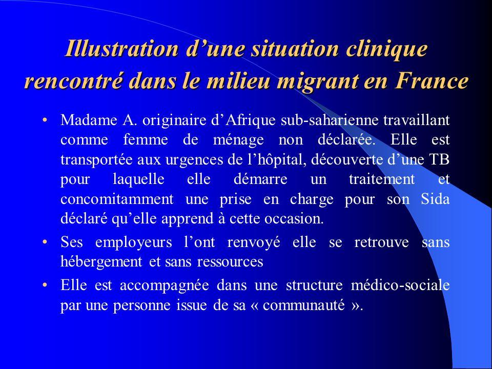 Illustration dune situation clinique rencontré dans le milieu migrant en France Madame A. originaire dAfrique sub-saharienne travaillant comme femme d
