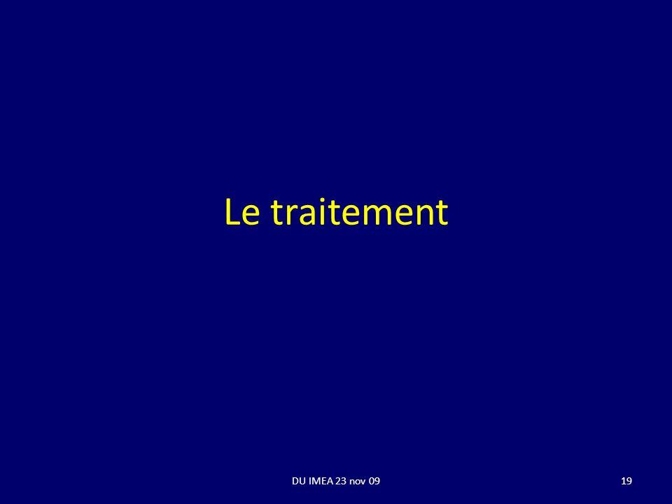 Le traitement DU IMEA 23 nov 0919