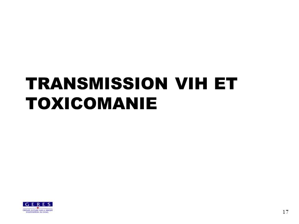 17 TRANSMISSION VIH ET TOXICOMANIE